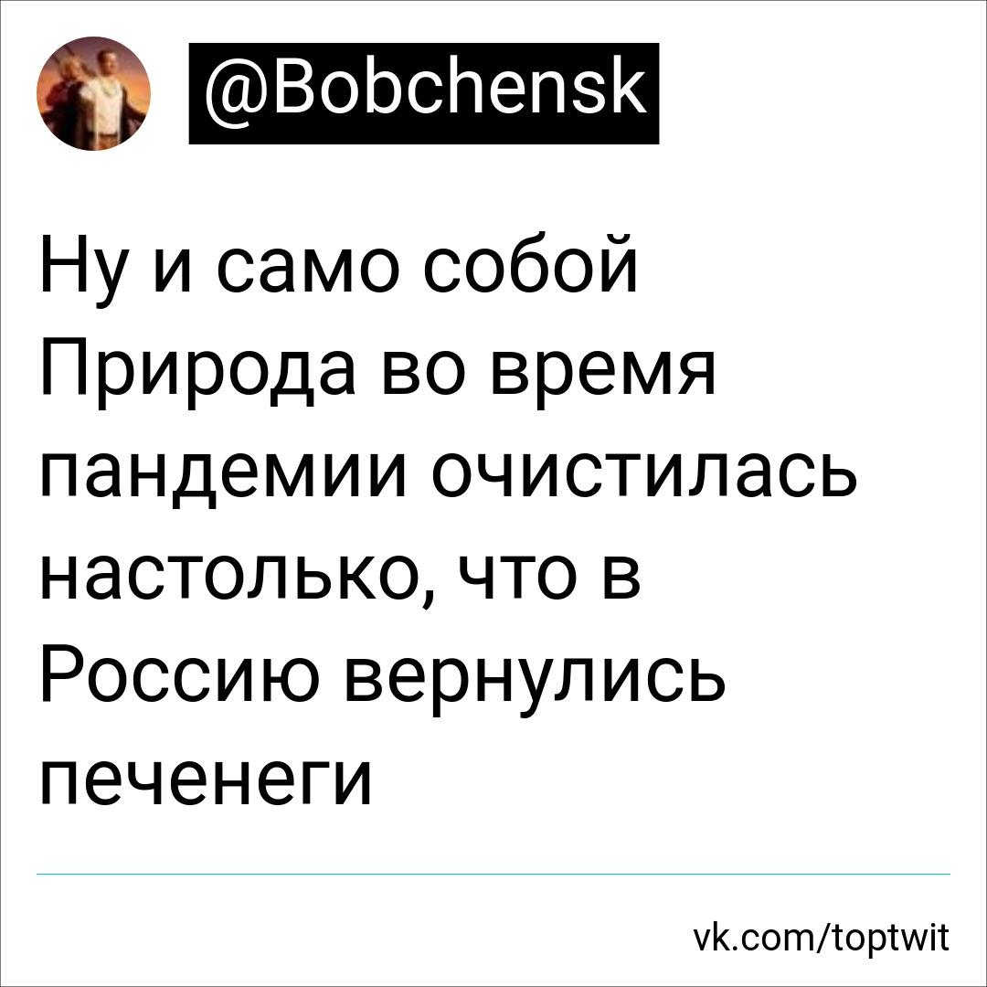 Природа очистилась и в Россию вернулись печенеги